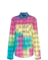 Multi colored Tie-Dye Dress Shirt