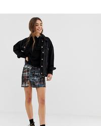 Pull&Bear Mini Ruched Skirt In Tie Dye