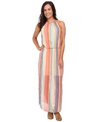 Multi colored Vertical Striped Maxi Dress