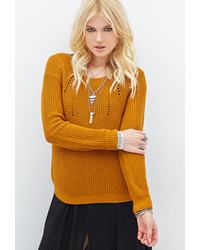 Mustard Cable Sweater