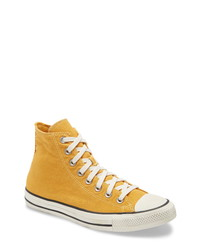 Mustard Canvas High Top Sneakers