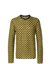 Lanvin Checker Patterned Sweater