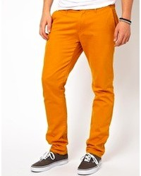 Solid Slim Fit Chinos