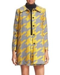 Alice + Olivia Kinsley Oversize Houndstooth Coat