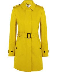 Burberry London Single Breasted Bonded Cotton Trench Coat