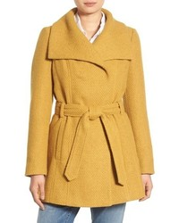 Steve Madden Belted Waffle Woven Coat