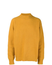 MSGM Ribbed Notch Hem Sweater