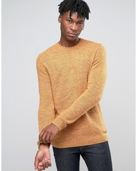 Esprit Crew Neck Knit With Fleck Wool Detail