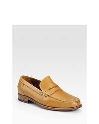 Mustard Leather Loafers