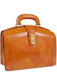 Mustard Leather Satchel Bag