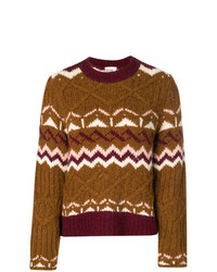 See by Chloe See By Chlo Chunky Knit Patterned Jumper