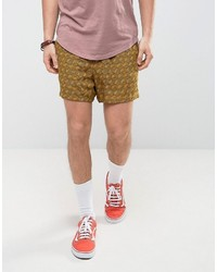 Asos Festival Slim Elasticated Waist Printed Shorts