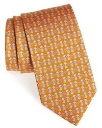 Mustard Print Tie