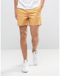 Asos Slim Shorter Chino Shorts In Mustard Yellow
