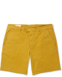 Ami Washed Cotton Twill Shorts