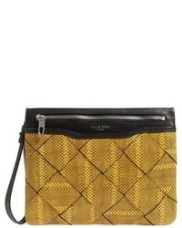 Snake embossed leather clutch medium 632691