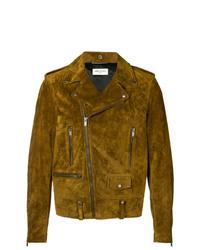 Mustard Suede Biker Jacket