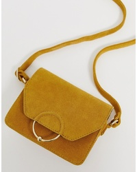 ASOS DESIGN Suede Ring Ball Cross Body Bag