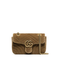 Gucci Velvet Mini Marmont Quilted Bag