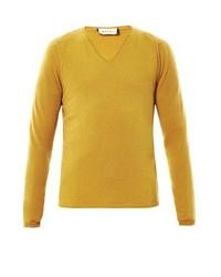 Cashmere v neck sweater medium 16015
