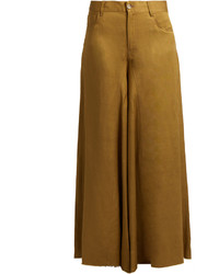 Maison Margiela Mm6 By Mid Rise Wide Leg Trousers