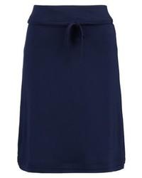 Italian a line skirt real navy blue medium 3904768