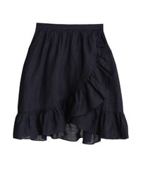 J.Crew Onyx A Line Skirt Midnight Navy