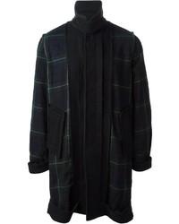 Navy and Green Overcoat