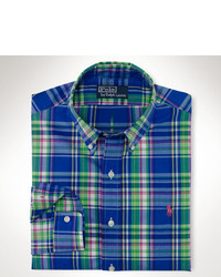 Polo Ralph Lauren Slim Fit Bright Plaid Poplin