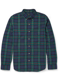 J.Crew Slim Fit Button Down Collar Checked Cotton Shirt