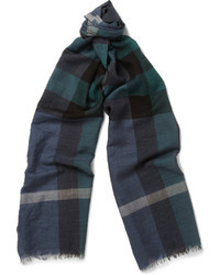 Burberry Shoes Accessories Check Fine Wool And Silk Blend Scarf