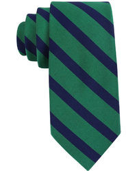 Navy and Green Plaid Tie