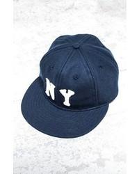 Navy and White Baseball Cap