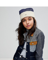 Kangol Cossack Hat In Denim And Faux Shearling