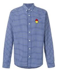 Ami Paris Button Down Smiley Patch Shirt