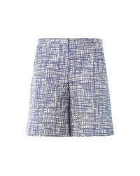 Zigzag jacquard tailored shorts medium 446732