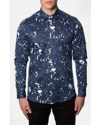 Midnight blossom trim fit print woven shirt medium 263148