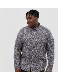 ASOS DESIGN Plus Regular Fit Smart Floral Shirt