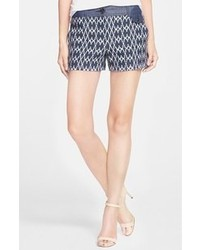 Trina Turk Santiago Cotton Blend Shorts Navy 12