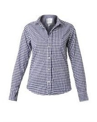 Frank eileen barry gingham check cotton shirt medium 83516