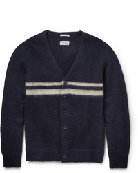 Rugger striped wool and mohair blend cardigan medium 14803