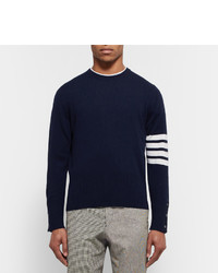 60bacd00a7 Thom Browne Striped Cashmere Sweater, £1,258 | MR PORTER | Lookastic UK