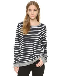 The lady the sailor striped crew pullover medium 435612