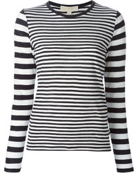 MICHAEL Michael Kors Michl Michl Kors Striped Long Sleeved T Shirt