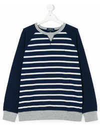 Navy and White Horizontal Striped Sweater