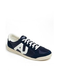 Armani Jeans Low Top Sneaker Navy Blue 41 Eu