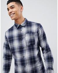 Jack & Jones Originals Brushed Check Shirt In Slim Fit