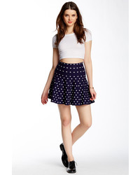 754ea9d15c How to Wear a Navy and White Polka Dot Skater Skirt (5 looks ...