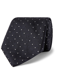 Hugo Boss 8cm Pin Dot Silk Faille Tie