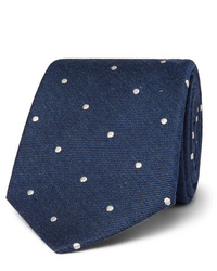 Paul Smith 8cm Polka Dot Silk And Wool Blend Tie